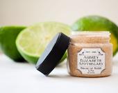 Sugar Lip Scrub 1 oz. Jar - Lime  - all natural & vegan -  2 in 1 scrub and balm