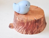 Bird on tree soap - Woodland - Cashmere Woods & Raspberry scented