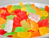 Gummi Bear Soaps  - Easter Basket gift - mixed fruit scented - food soap - red, green, yellow, orange
