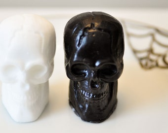 Scary Skull Soap - Gothic Black & White Halloween - Earl Grey Tea and Black Tea Scented