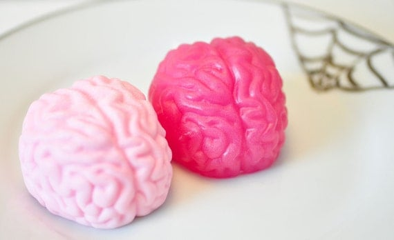 Brain Soap  - hot pink and baby pink - licorice cherry