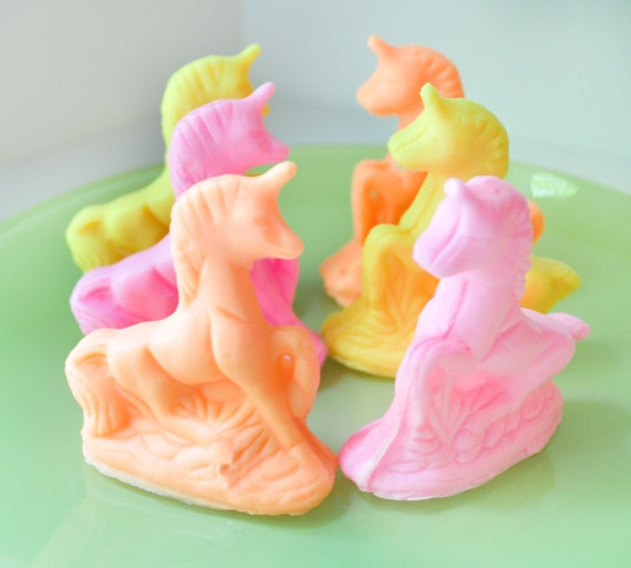 Tiny Unicorn Soaps -  Pink Berry Lime scented - Magical Horse soap - Vegan Soap - novelty soap