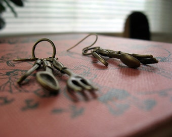 Antiqued Silverware Earrings
