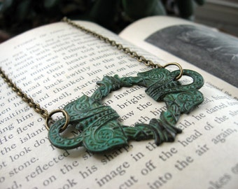 Patina Celtic Wreath Necklace