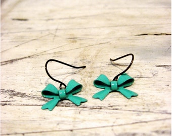 The 'Yes Please' Dainty Turquoise Bow Earrings
