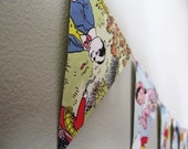 Recycled Vintage Rupert Bunting/Garland - Wedding party or nursery decoration