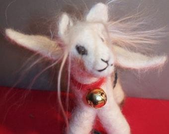 Wool  Felted Pegasus Ornament