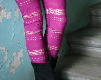 CLEARANCE SALE -  Hot pink elastic leggings