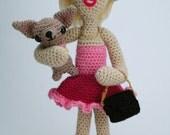 "Cairo Sheraton, the So-So Socialite - (Ready to ship) ""antigurumi"" amigurumi crocheted doll (MATURE content)"