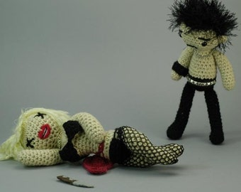 "Sid and Nancy CUSTOM ""Antigurumi"" amigurumi set"