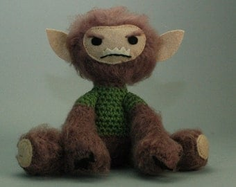 Wolfy the Werewolf CUSTOM Amigurumi figure