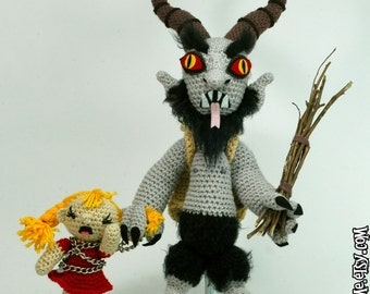 "CUSTOM Krampus ""antigurumi"" amigurumi set"