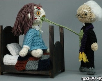 "Exorcist Playset - CUSTOM ""Antigurumi"" Amigurumi set"
