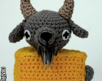 "Goatse Cheese - CUSTOM crocheted ""antigurumi"" figure - MATURE"
