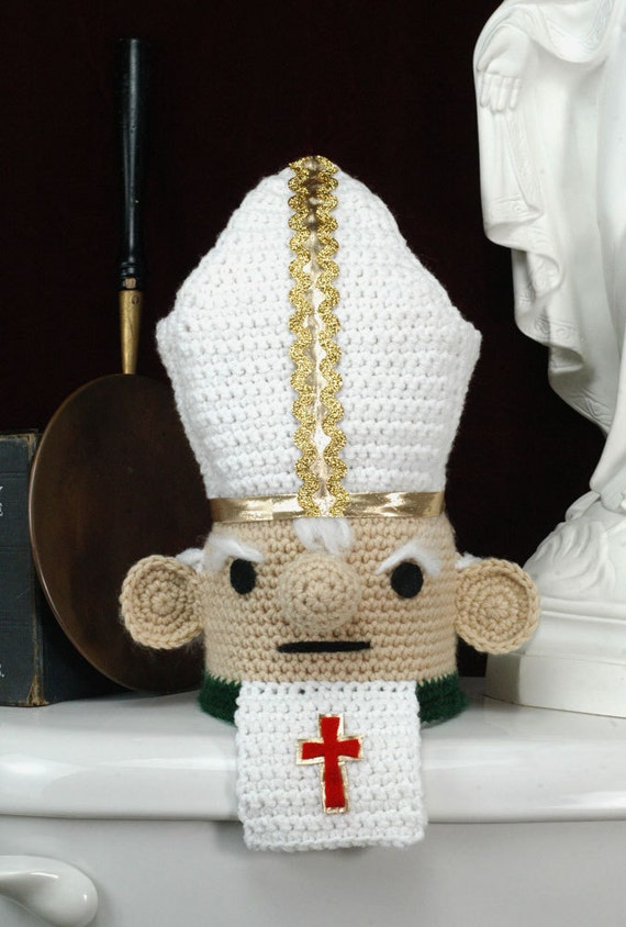CUSTOM Toilet Poper - The Papal Toilet Paper Cozy