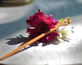 Wood Hair Stick - Sun Spiral II