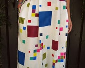 Reserved for Nicole: Vintage 80's Graphic Skirt Cubist Geometric