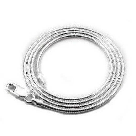 "Silver Plated snake Chain 18""  1.0mm"