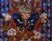 Royal Butterfly Angel - Mixed Media Collage - OOAK  framed original artwork