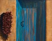 Prints of Taos Blue Door