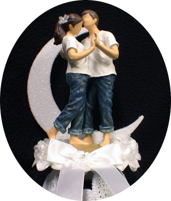 Outdoor Wedding Cake Ideas: FOREVER In Blue JEANS Beach Wedding Cake Topper Outdoor