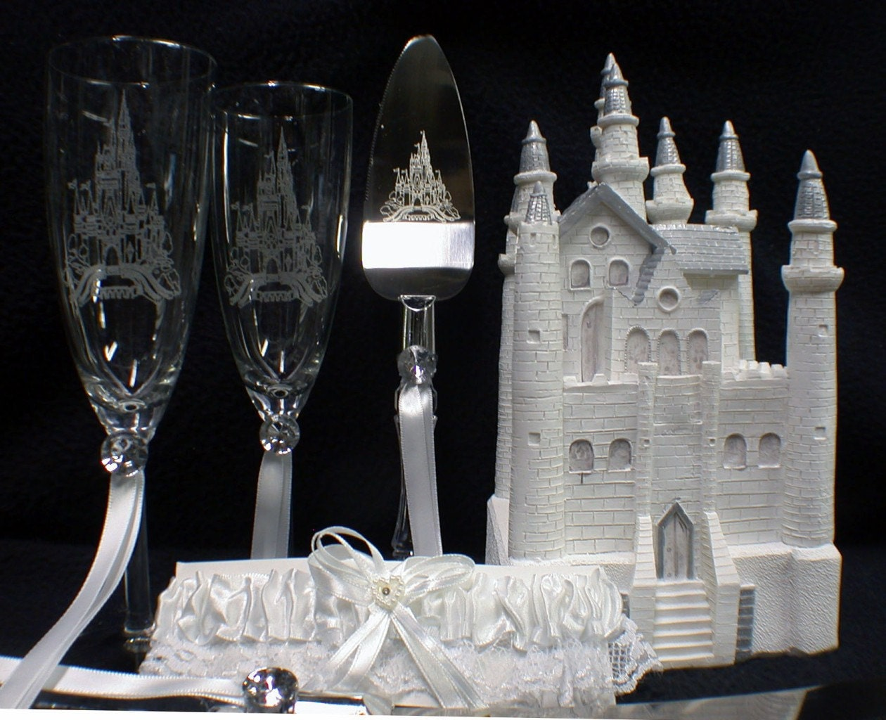 fairy castle wedding cake topper fairytale castle cake topper wedding lot glasses server 14093