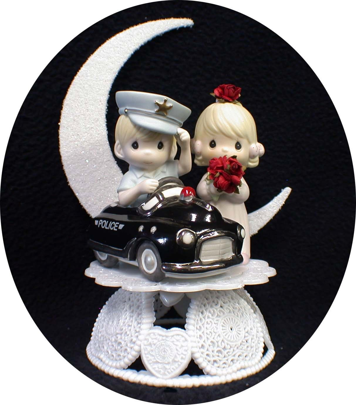 POLICE car Wedding CAKE TOPPER Policeman w by YourCakeTopper