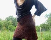 Sale - Earthy Brown Wool Sweater Skirt - Handmade and Custom Fit
