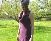 Organic Clothing - Organic Cotton Sleeveless Cowl Tunic -Shown in Plum - Made to Order