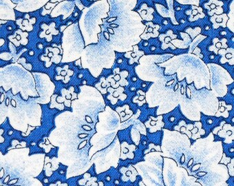 Blue Floral 2 Fabric