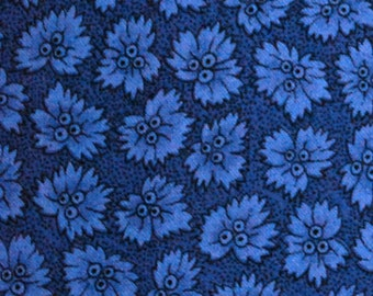 Blue Floral 3 Fabric