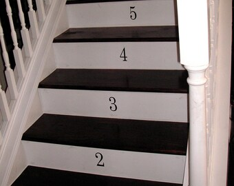 Vinyl Numbers / Stairway Numbers - Vinyl Lettering Decal