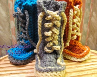 Buggs - Lace Up Baby Booties for Autumn - Pick Your Color