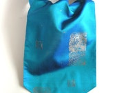 Special offer for Tim: Cravat  Turquouse - Ascot Blue - Handmade Necktie - OOAK Ready To Ship