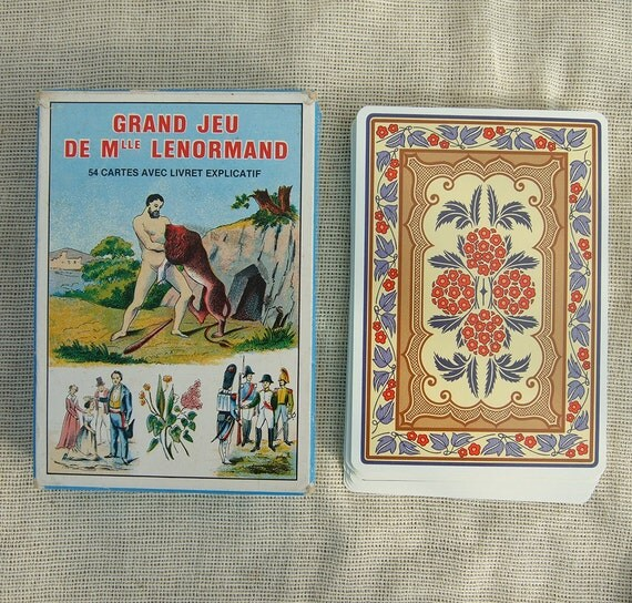 French Astrological Divination cards by Mlle Lenormand GRIMAUD