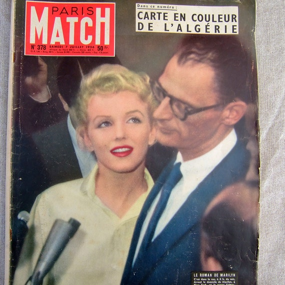 Marilyn Monroe Magazine Arthur Miller marriage 1956 French Magazine