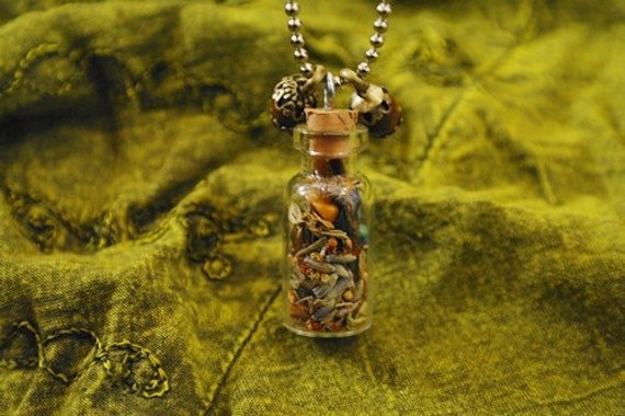 Healing Herbal Charm Bottle Necklace