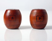 Vintage Wooden Barrel Souvenir Salt and Pepper Shakers from Eufaula, Oklahoma PRICE REDUCTION