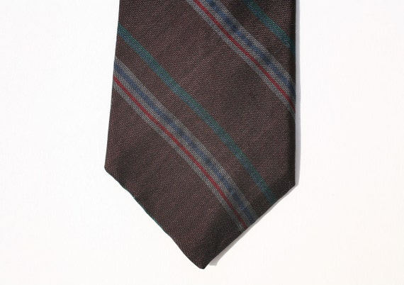 Vintage Halston Silk Striped Tie - Mad Men Style PRICE REDUCED
