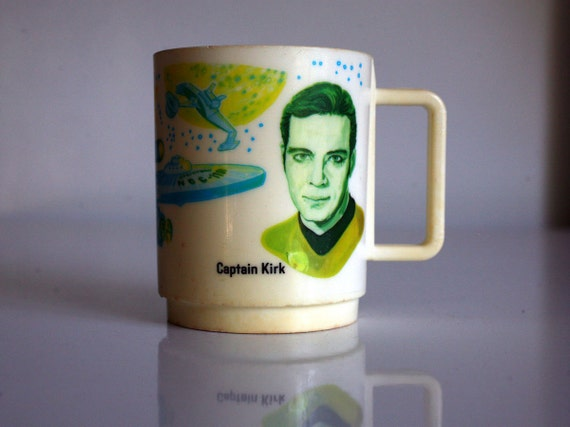 1975 Collectible Star Trek Cup, by Deka for Paramount Pictures, TV Memorabillia