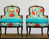Pair of Antique Bergere Armchairs