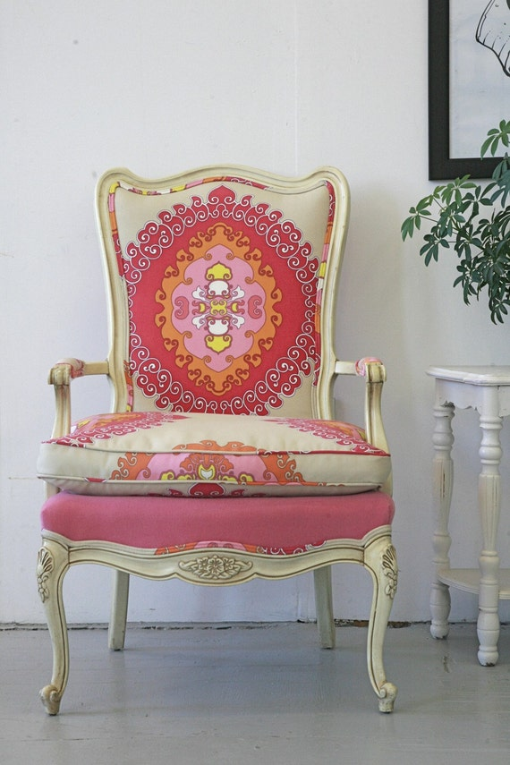 Paradise Punch French Chair  RESERVED