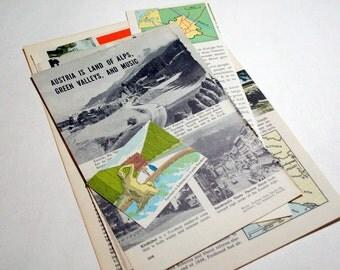 Austria - International Travel Vintage Collage Kit