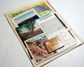 Wyoming - United States Vintage Travel Collage Kit