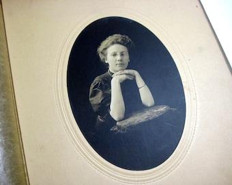 Antique Black and White Photograph - Portrait of a Lady