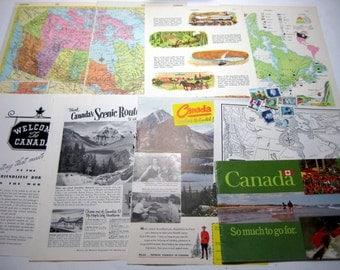 World map journal vintage etsy uk canada international travel vintage collage kit gumiabroncs Gallery