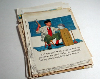40 Vintage Pages of Children's Books