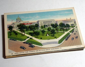 50 Vintage Harrisburg Pennsylvania Postcards Blank - Wedding Guestbook