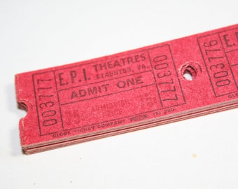 100 Vintage Theatre Tickets - Red