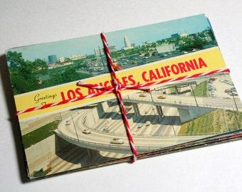 SALE 25 Vintage Used California Chrome Postcards
